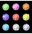 collection multicolored rhinestones vector image