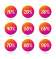 color circles percent discounts vector image
