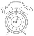 coloring black and white alarm clock vector image vector image