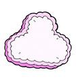 comic cartoon decorative cloud vector image