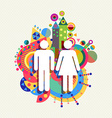 Couple icon man and woman concept vector image vector image