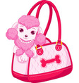 cute pink poodle vector image vector image