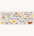 daily diet plan banner vector image