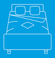 double bed icon outline style vector image vector image