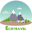 ecotravel2 vector image vector image