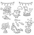 element object circus design doodle style vector image vector image
