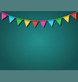 festive back with flags on rope vector image