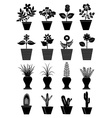 Flower pot icons set vector image vector image