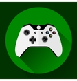 Game controller flat icon with long shadow vector image vector image