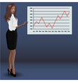 Girl at business presentation vector image