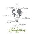 globalization concept hand drawn isolated vector image vector image