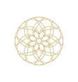 Gold mandala or geometrical element for decoration vector image vector image