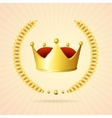 golden royal crown vector image