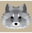 Gray low poly fox vector image