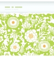 Green and golden garden silhouettes horizontal vector image vector image