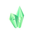 green crystal precious gemstone or semiprecious vector image vector image