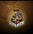 gunner esport mascot logo design vector image