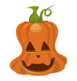 halloween pumpkin icon orange autumn holiday vector image vector image
