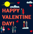 happy valentines day couples together in love vector image vector image