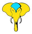 head elephant icon cartoon vector image
