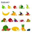 Healthy Eating Concept Fruit and Slices on White vector image vector image