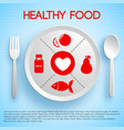 healthy food concept vector image vector image