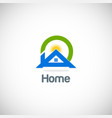home solar summer logo vector image vector image