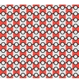 Isolated abstract grey and red color pattern vector image vector image