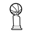 isolated ball and trophy design vector image