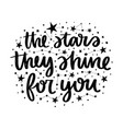 lettering with stars vector image