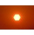 Low poly sun on orange sky vector image