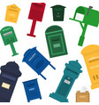 mailboxes letter boxes pedestals for sending and vector image vector image