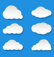 messages clouds icon weather symbols vector image vector image