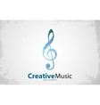 Music logo Musical key note template logo vector image vector image