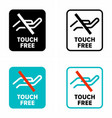 no hands access technology information sign vector image vector image