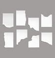 notebook sheets with torn edge ragged blank pages vector image vector image
