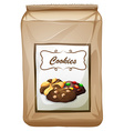 Packaging design with bag of cookies vector image vector image