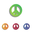 Peace sign Colorfull applique icons vector image