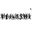 people crowd silhouette group person vector image vector image