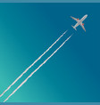 plane in clouds vector image vector image