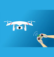 play drone by remote controller design vector image vector image