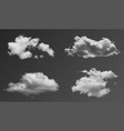 Realistic fluffy clouds isolated on transparent