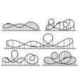 roller coaster silhouette amusement park vector image