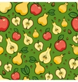 Seamless pattern with fruits and leaves of trees vector image vector image