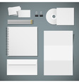 Set of corporate identity templates vector image vector image