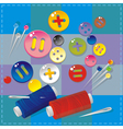 sewing items vector image vector image