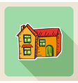 Sketch style real estate house vector image vector image