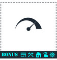 speed icon flat vector image vector image