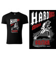 t-shirt with hard rock guitarist vector image