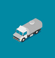 tank truck isometric icon vector image vector image